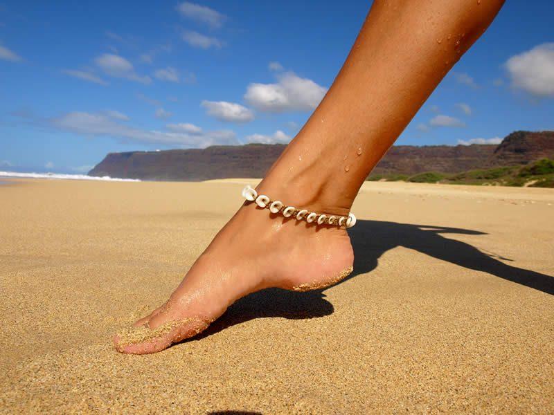 Ocean Tuff Jewelry - Kauai Puka Shell Anklets