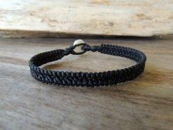 Ocean Tuff Jewelry - Hand-Woven Bracelet in Black (2-strand)