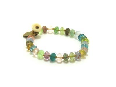 Ocean Tuff Jewelry - Recycled Glass Bead Bracelet - 6.5""