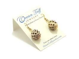 Ocean Tuff Jewelry - Hawaiian Drupe Shell Earrings 14K