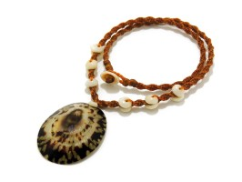 Ocean Tuff Jewelry - Opihi Shell Necklace With Puka Shell Accents