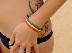 Ocean Tuff Jewelry - Rasta Weave Bracelet (3-Strand)