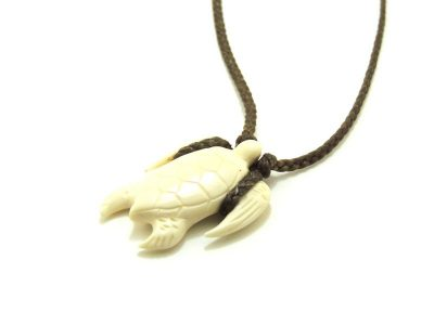 Ocean Tuff Jewelry - Hand-Carved Hawaiian Sea Turtle Necklace