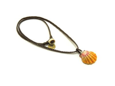 "Ocean Tuff Jewelry - Kauai Sunrise Shell Pendant Necklace (18"")"