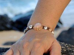Ocean Tuff Jewelry-RARE Kauai Sunrise Shell Bracelet