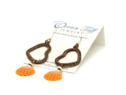 Ocean Tuff Jewelry - Sunrise Shell & Heart Earrings