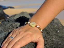 "Ocean Tuff Jewelry - ""Pele's Moon"" Sunrise Shell Bracelet"