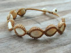 Ocean Tuff Jewelry - Adjustable Operculum Basket-weaved Bracelet