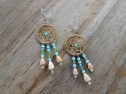 Ocean Tuff Jewelry - Dreamcatcher Earrings with Kauai Cone Shells