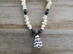 Ocean Tuff Jewelry - Adjustable Hebrew Cone Shell Necklace