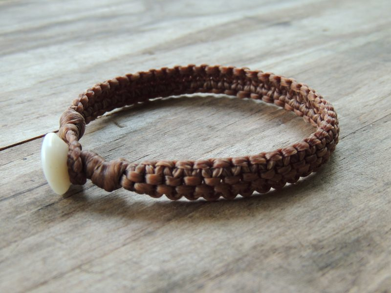 Ocean Tuff Jewelry - Hand-Woven Bracelet in Natural (4-strand)