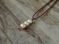 Ocean Tuff Jewelry - Triple Freshwater Pearl Drop Necklace