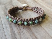 Ocean Tuff Jewelry - African Turquoise Beaded Chunky Double Bracelet
