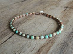Ocean Tuff Jewelry - Impression Jasper Gemstone Microweave Bracelet