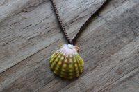 Ocean Tuff Jewelry - Sunrise Shell Pendant Necklace - Large Shell - 22