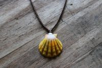 Ocean Tuff Jewelry - Sunrise Shell Pendant Necklace - Extra Large Shell - 22