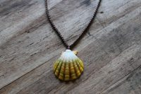 Ocean Tuff Jewelry - Sunrise Shell Pendant Necklace - Extra Large Shell - 18