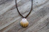 Ocean Tuff Jewelry - Sunrise Shell Pendant Necklace - Small Shell - 16