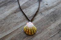 Ocean Tuff Jewelry - Sunrise Shell Pendant Necklace - Large Shell - 20