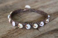 Ocean Tuff Jewelry - Rare Multi-Colored Hawaiian Puka Shell Bracelet - Small