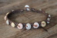 Ocean Tuff Jewelry - Rare Multi-Colored Hawaiian Puka Shell Bracelet - Medium