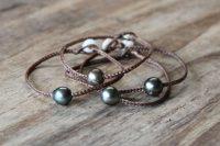 Ocean Tuff Jewelry - Single Tahitian Pearl Braided Bracelet