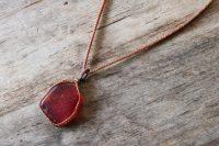 Ocean Tuff Jewelry - Sea Glass Pendant Necklace - Red