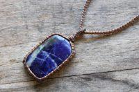 Ocean Tuff Jewelry - Blue Sodalite Pendant Necklace