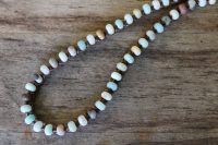 Ocean Tuff Jewelry - Rainbow Amazonite Rondelle Gemstone Necklace