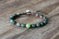Ocean Tuff Jewelry - Modern Ye Ming Zhu & Green Moss Agate Bracelet